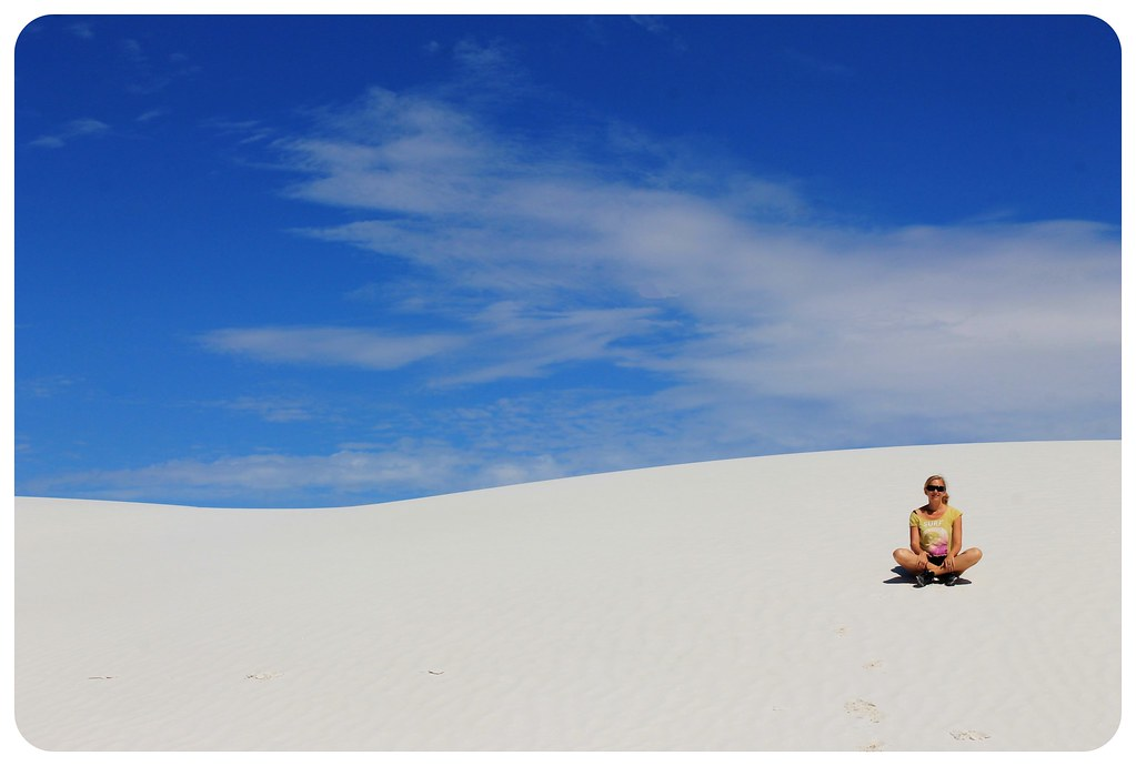 Dani in white sands