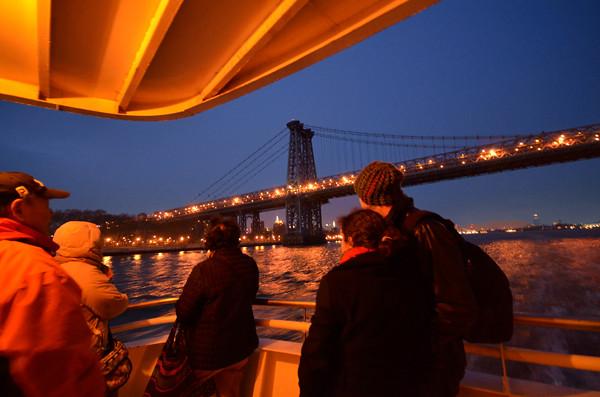 Atardecer desde el Hudson en Nueva York