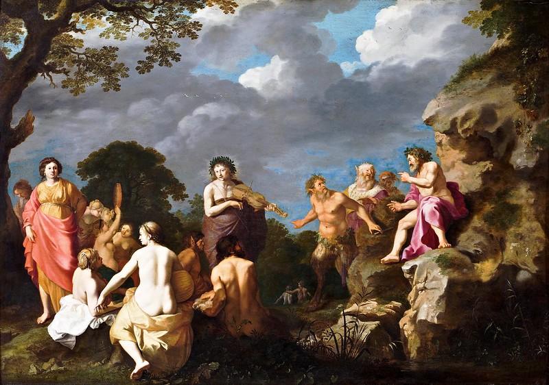 Cornelis van Poelenburgh - The Musical Contest between Apollo and Marsyas (1630)