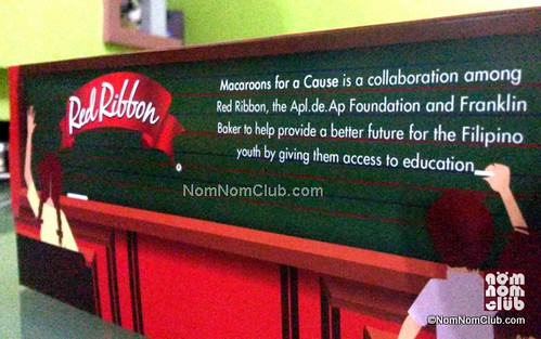 P7 for every P50 Red Ribbon Macaroons for a Cause goes to Charity