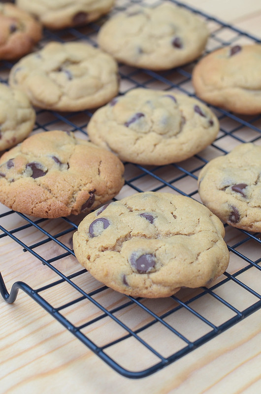 Chewy Peanut Butter Chocolate Chip Cookies - Valerie's Kitchen
