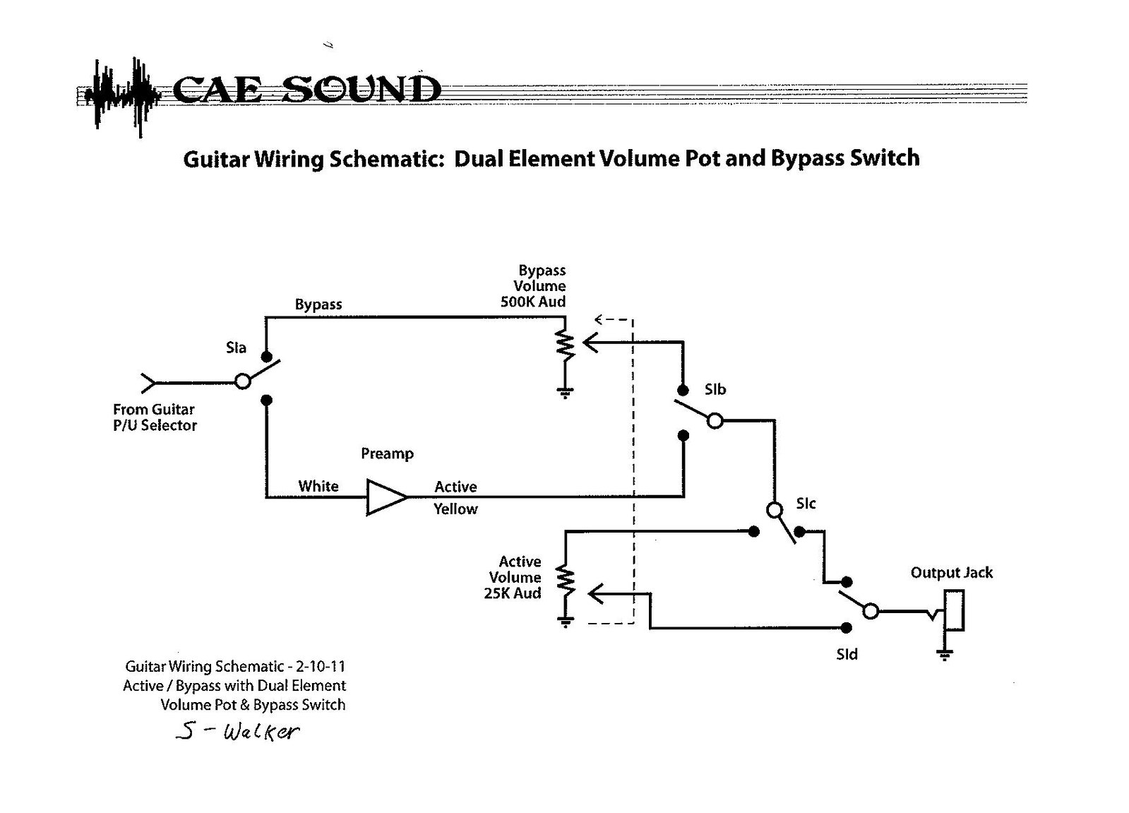 Guitar wiring schematic help the gear page can someone help me with this schematic i still cant read schematics properly i plan to use a 6 pin 2way where the switch is any chance someone can mock swarovskicordoba