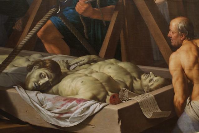 Peinture religieuse d'une grande violence.
