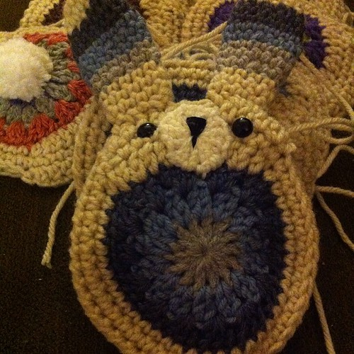 First #bunny of many. Almost done! #crochet