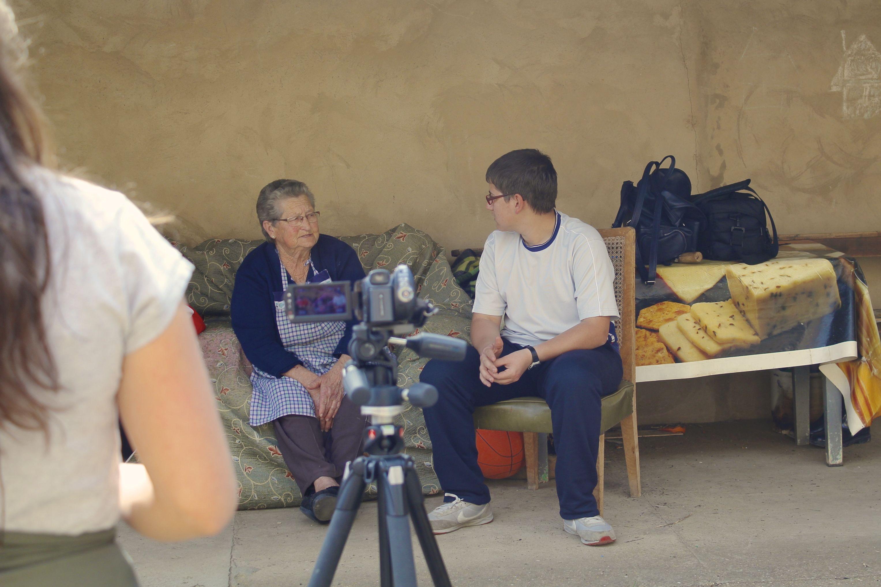 Taller: Nietos, abuelos... Grabando! Fundación Cerezales