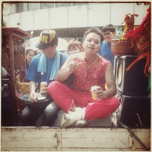 Men on a Truck. Temple Parade in Caotun Township. #taiwan #temple #nantou #caotun