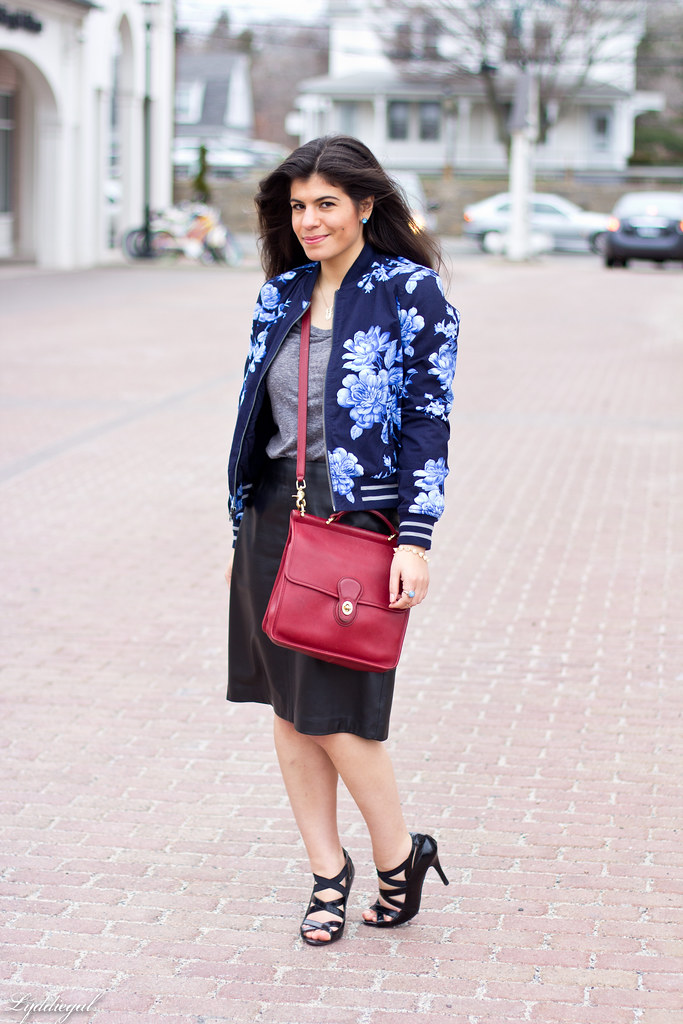 floral bomber, leather pencil skirt.jpg