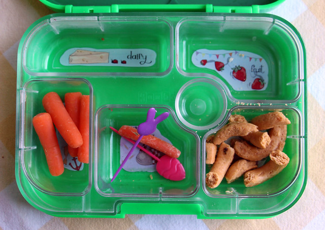 Preschool Bunny Bento #630: after