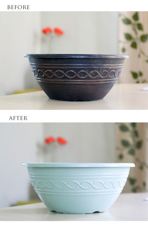 planter before & after spray paint | yourwishcake