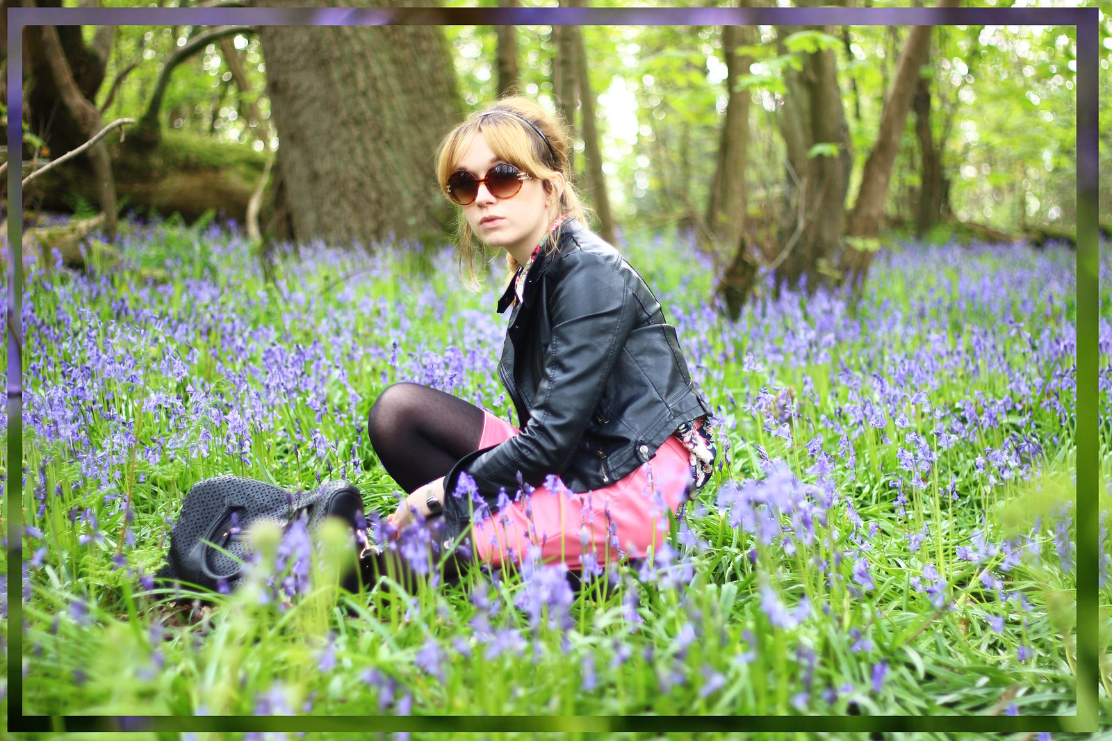 6bluebells, spring, fashion, florals, zara, high street, blog, personal style, river island, ebay, leather jacket, affordable, retro, 60's, sixties, topshop