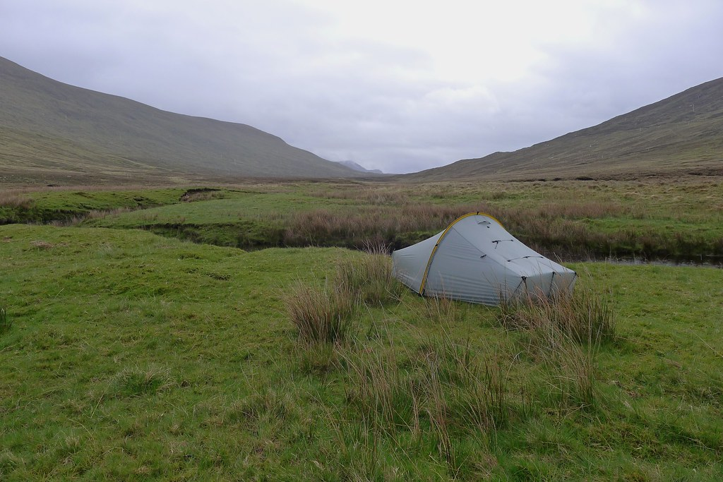 Camping in Strath Chrombaill
