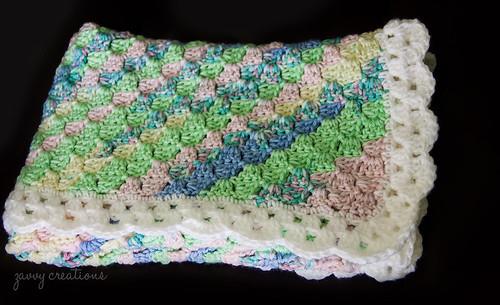 Folded Pastel Baby Blanket 2