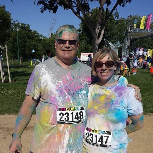 Madge and I at the finish