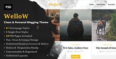 Wellow – Clean & Personal Blogging PSD T…