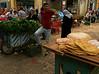 Street Scene with Flat Bread in Nablas, Palestine