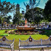 Central Plaza in the colonial city of Valladolid Mexico