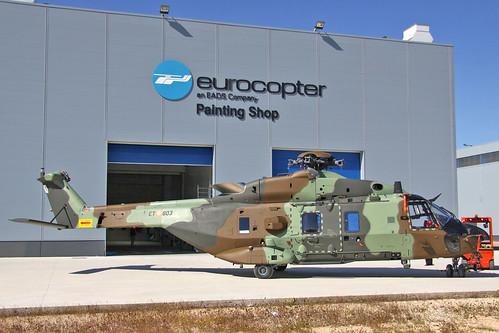 240513 007r - Salida de pintura del primer NH90 que se entregará la las FAMET, HT.29-03 / ET 803