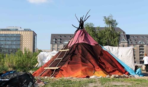 палаточный лагерь в Кройцберге