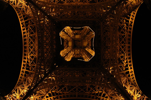 Under Eiffel Tower at Night