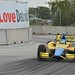 Mike Conway exits Turn 6 at Belle Isle