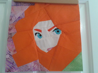 Paper Pieced Merida (from Brave)