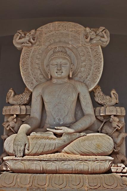 Buddha at Dhaulagiri, Shanti Stupa, Bhubaneswar, Odisha
