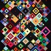 T-Squares on Black by Linda Rotz Miller Quilts & Quilt Tops