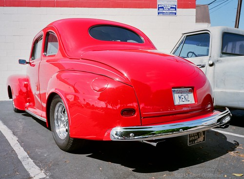 Custom Red 1946 Ford Lowrider - GS645W - Reala 100