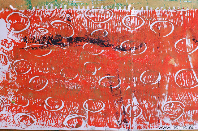 Monoprint with circles