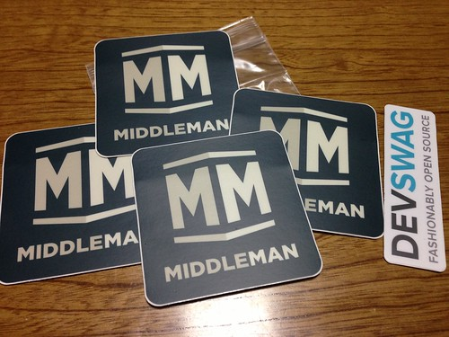 Middleman Sticker