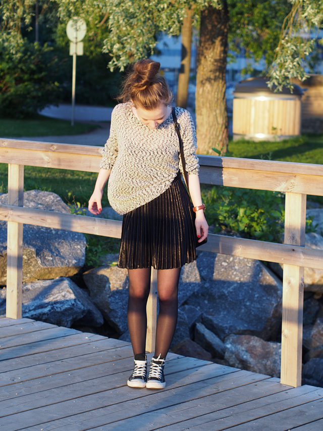 choies skirt selected femme knitted blouse