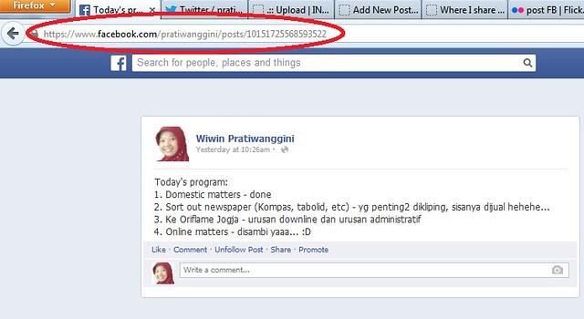 URL post FB