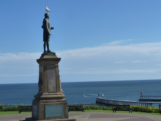 Cook statue, Whitby