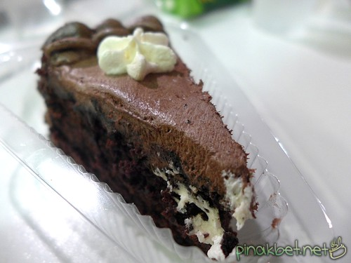 Slice of Choco Ampalaya Delight Cake