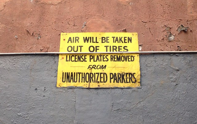 Air Will Be Taken Out of Tires & License Plates Removed