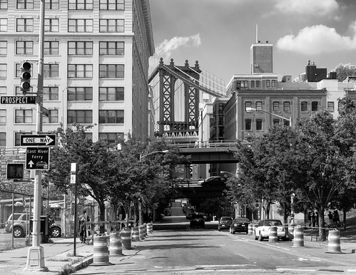 Brooklyn's Washington Street and the Manhattan Bridge - #201/365 by PJMixer