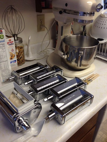 Pasta rollers for the KitchenAid.