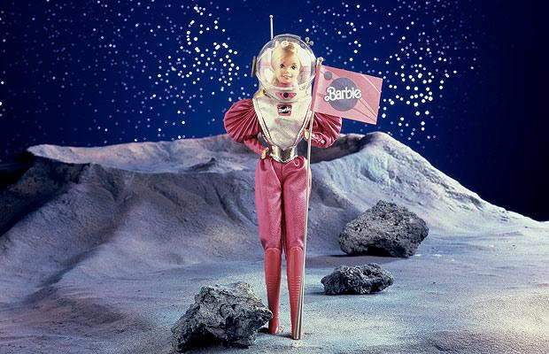 Barbie lands on the moon!