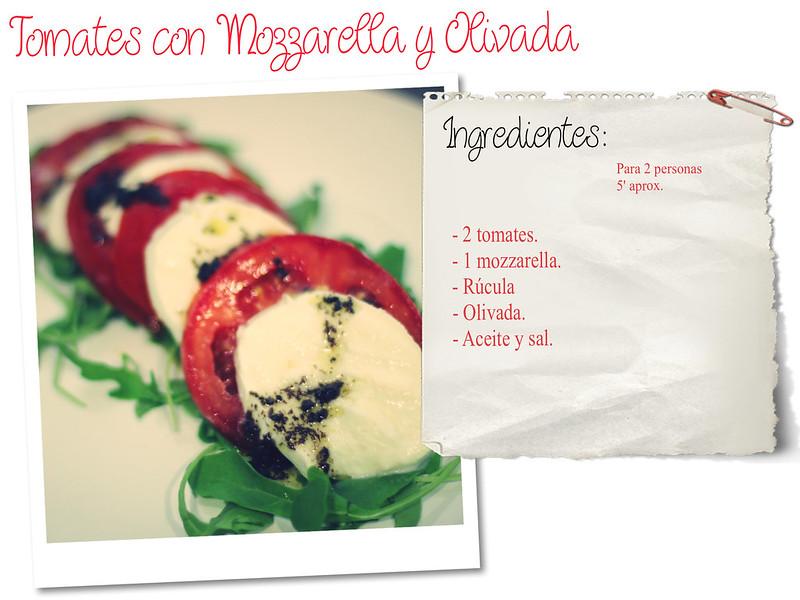 Receta: Tomates con Mozzarella y Olivada