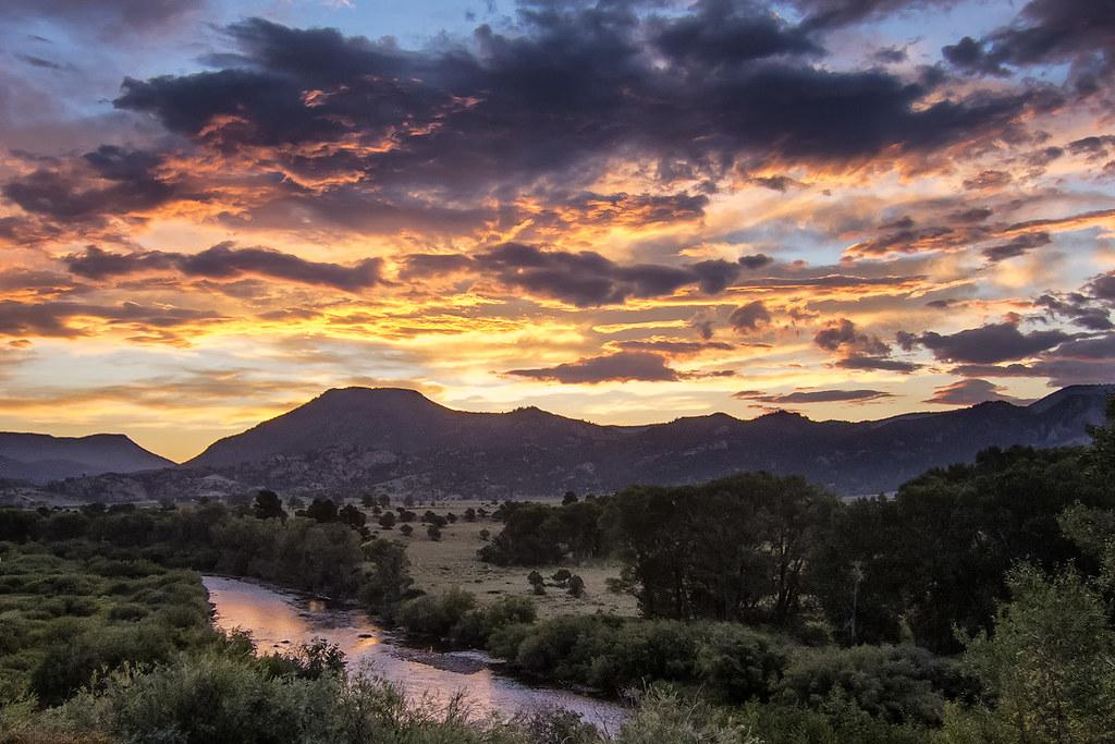 Sunrise On The Arkansas River Valley