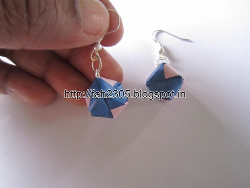Handmade Jewelry - Origami Paper Box Earrings (2) by fah2305