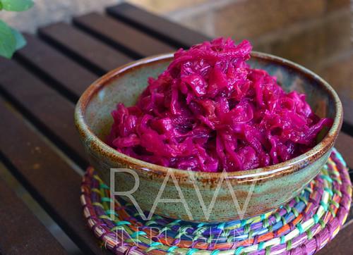 Pink sauerkraut