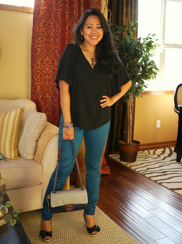 rachel roy top - 7fam jeans - valentino espadrilles