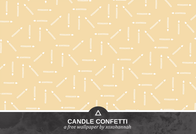 Candle Confetti Desktop Background Preview in Beige