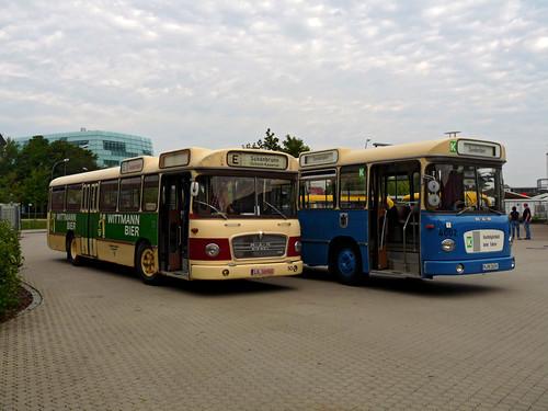 Der Landshuter Metrobus trifft auf seinen Bruder aus München.