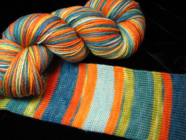 Villa Nove Self Striping Safari Sock Yarn
