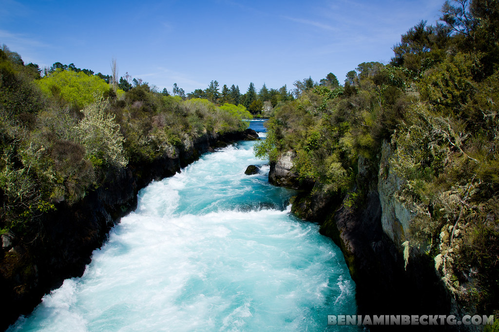 "The Huka Falls ""Ice-Blue, Show-White"", Waikato River"