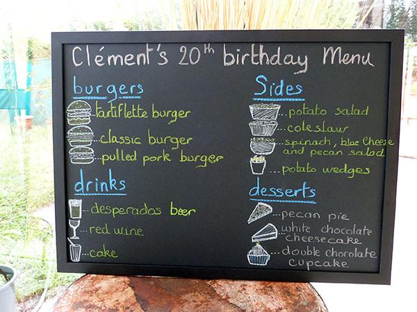 Clement's menu