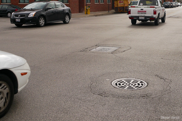 Typical Chicago sewer grate