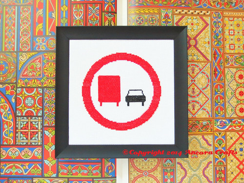 No Truck Passing Cross Stitch